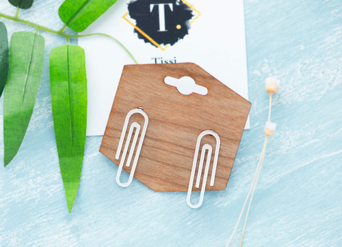 Esmy Paper Clip Earrings - tissinyc