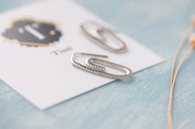 Load image into Gallery viewer, Willa Pave Paper Clip Earrings - tissinyc