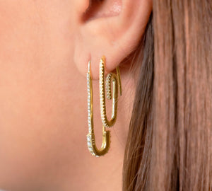 Willa Pave Paper Clip Earrings - tissinyc