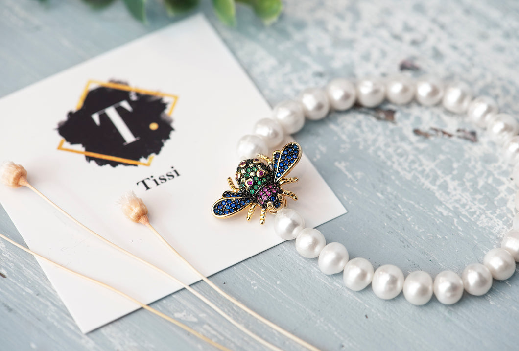 Bee Pearl Beaded Bracelet - tissinyc