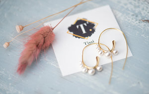 Lena Pearl Spiral Earrings - tissinyc