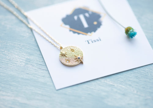 Starry Night Sapphire Necklace - tissinyc