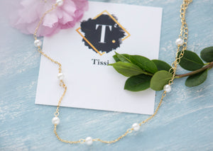 Lyta Tiny pearl Choker Necklace - tissinyc