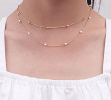 Load image into Gallery viewer, Lyta Tiny pearl Choker Necklace - tissinyc