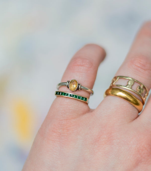 Vintage Citrine Ring - Mottive.inc