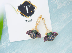 Alice Bee Dangling Earrings - tissinyc