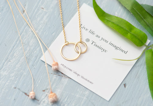 Double open circle necklace - tissinyc