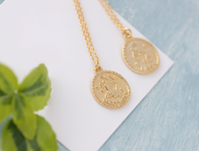 Load image into Gallery viewer, Lily Gold Zodiac Necklace - tissinyc
