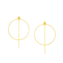 Load image into Gallery viewer, Liana Geometric Open Circle Earrings - tissinyc