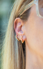 Load image into Gallery viewer, Valeria V Shaped Huggie Earrings - tissinyc