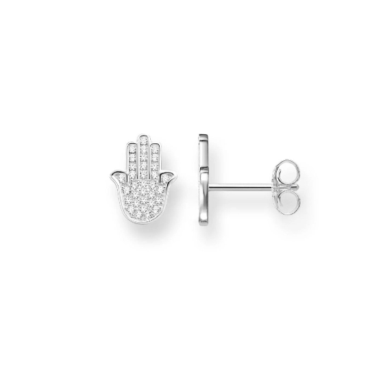 Daria Hamsa Hand Stud Earrings - tissinyc
