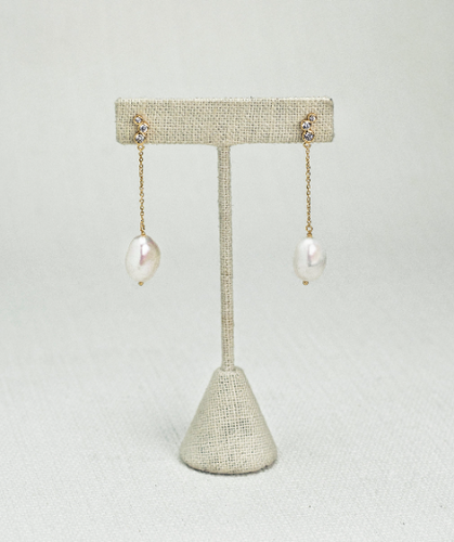 Margarita Real Pearl Silver Earrings - tissinyc