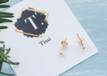 Load image into Gallery viewer, Tinker Tiny Gold Ball Stud Earrings - tissinyc