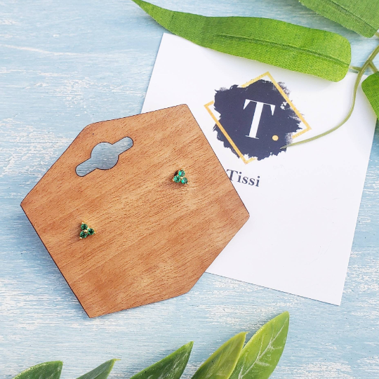 Gwen Green Sapphire Stud Earrings - tissinyc