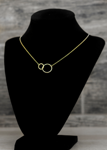 Mila Double Circle Necklace - tissinyc