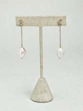Load image into Gallery viewer, Margarita Real Pearl Silver Earrings - tissinyc