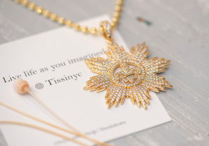 Caroline Gold Starburst Necklace - tissinyc