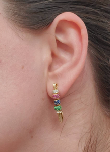 Pin Earrings With Bedazzled Beads - tissinyc