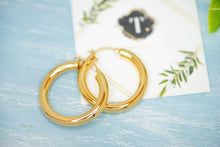 Load image into Gallery viewer, Diana Hollow Gold Hoops - tissinyc
