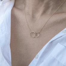 Load image into Gallery viewer, Mila Double Circle Necklace - tissinyc