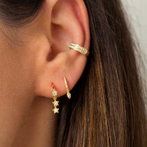Billie Tiny Spike Hoops - tissinyc