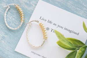 Charlie two toned spiral hoops - tissinyc