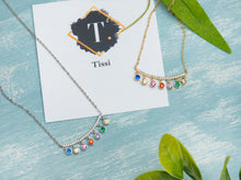 Load image into Gallery viewer, Marlow Crescent Rainbow Necklace - tissinyc