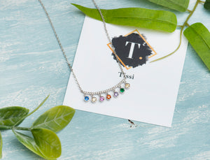 Marlow Crescent Rainbow Necklace - tissinyc