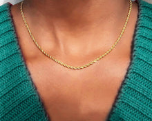 Load image into Gallery viewer, Skinny Unisex Gold Rope Chain - tissinyc