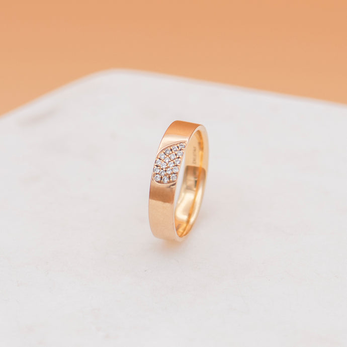18K Rose Gold/Diamond Cluster Ring - Mottive.inc