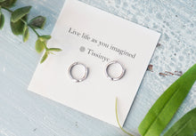 Load image into Gallery viewer, Lina Tiny Pave Huggie Earring - tissinyc