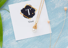 Load image into Gallery viewer, Meryl Vintage Style Single Pearl Necklace - tissinyc