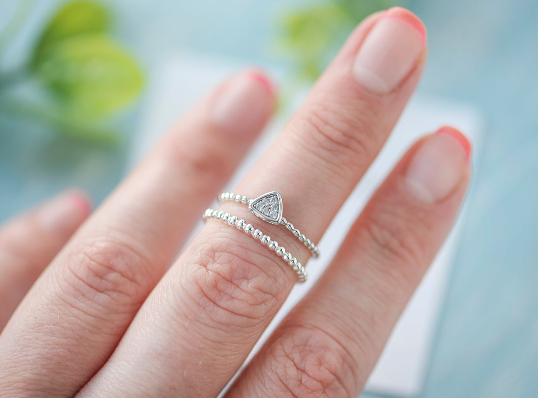 Naya triangle skinny ring set - tissinyc