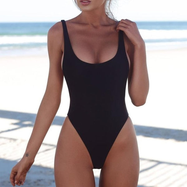 2020 One Piece Swimsuit Solid