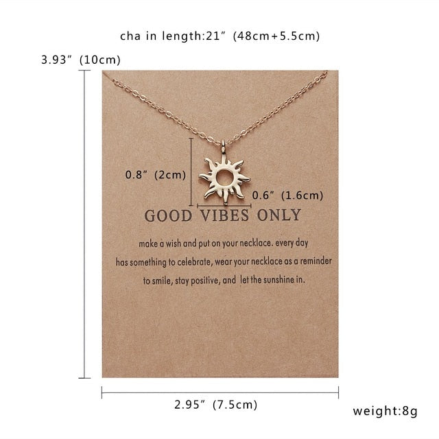 Good Vibes Only Sun Necklaces & Pendants For Women