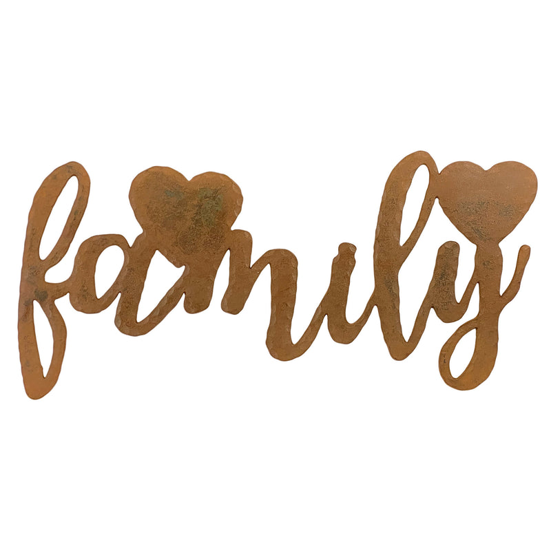 Family Metal Sign Wall Decor