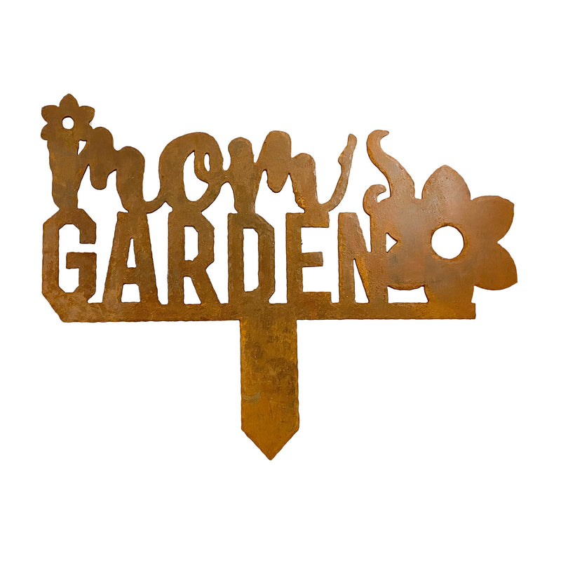 Moms Garden Metal Yard Garden Sign
