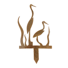 Birds Metal Yard Garden Sign