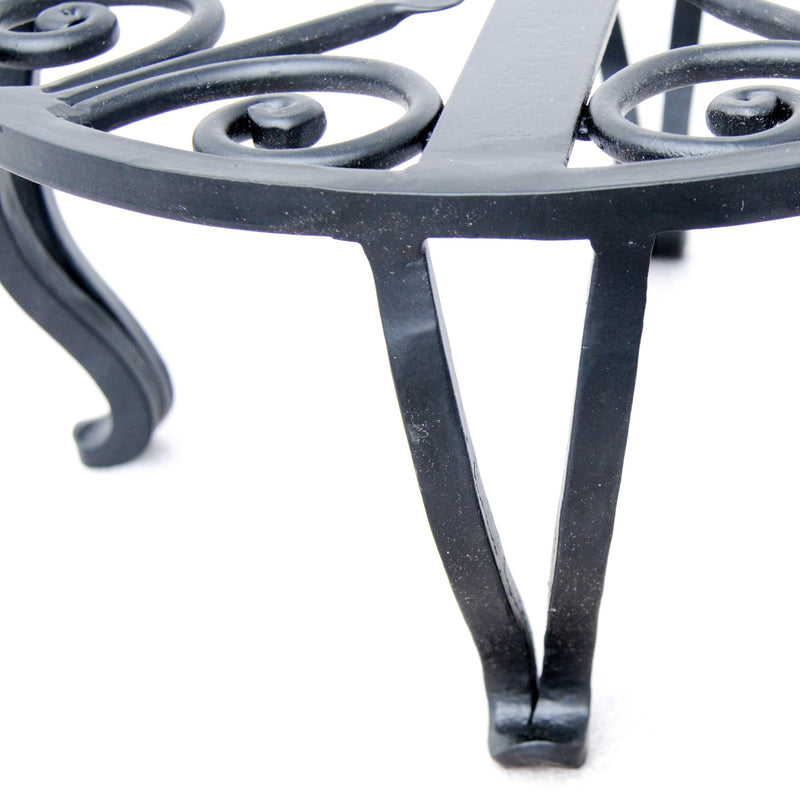 "10"" x 4,5"" Wrought Iron Plant Stand"