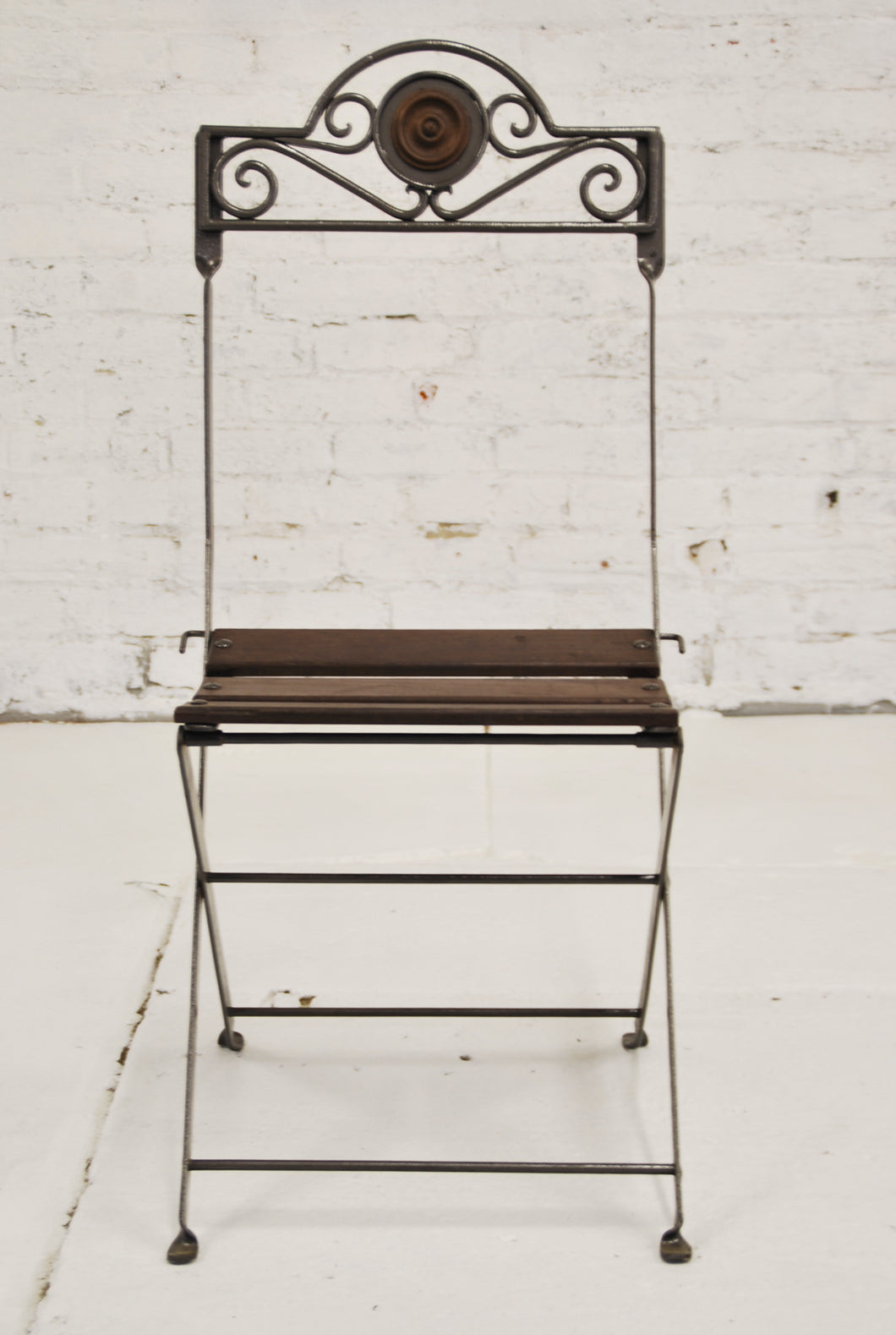 Hand-forged iron and wood chair CH-001