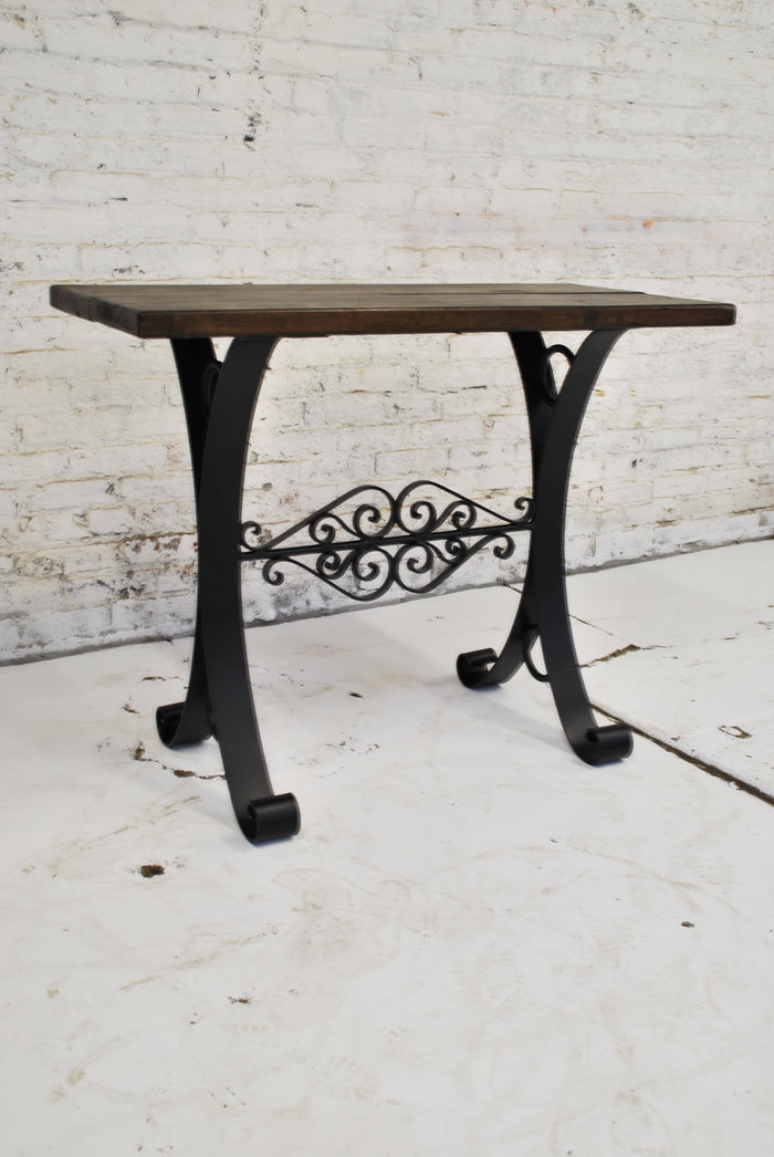 Iron and Wood Server Table ST-008