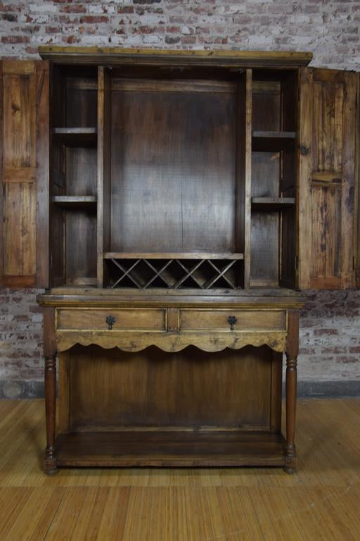 Barnwood Hutch -Armoire Styled Serving Cabinet
