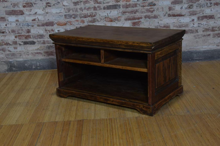 Barnwood Side Table - Hidden Shelves