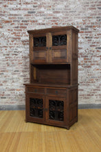 Barnwood Hutch - Double Iron and Glass Cabinet