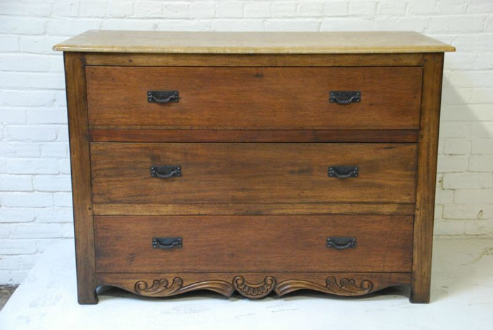 Barn Wood Dresser - Long Floral Trim WD-005