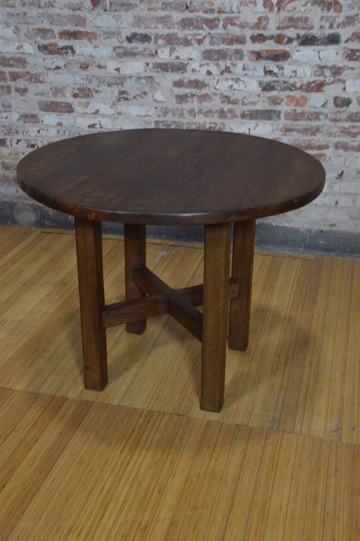 Copy of Barnwood Side Table - Round Dimpled Copper Top