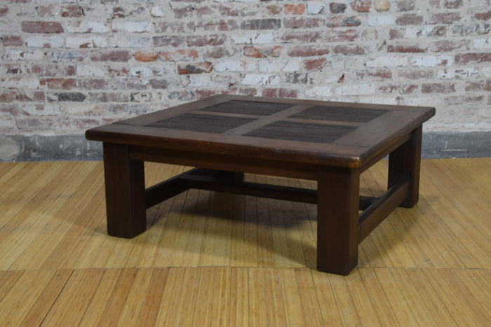 Barnwood Coffee Table - Four Wood Panes