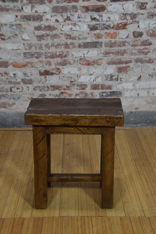 Barnwood side table - Rustic square