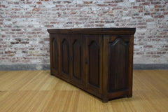 Barnwood Console - Four Cabinet Panel Carvings