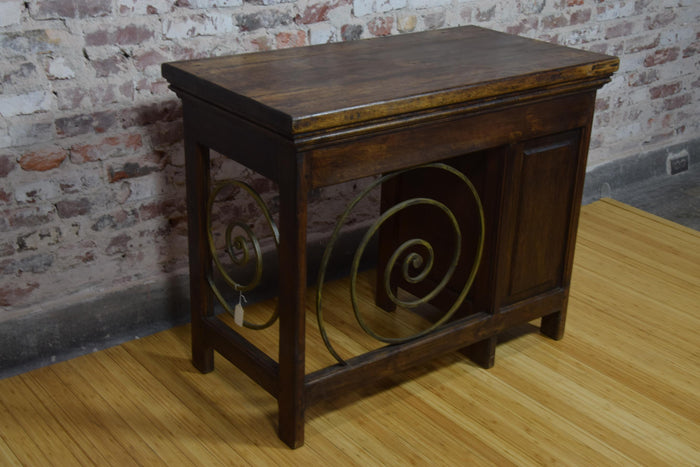 Barnwood and Iron Desk - Desk